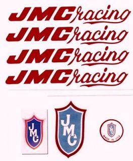Red JMC® Racing Vinyl BMX Decal Sticker Set 1980 1985