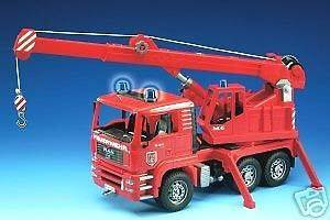 Bruder Toys MAN Fire Engine Crane Truck with Light NEW