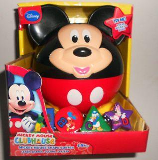 Disney Mickey Mouse Fire Truck Shape Sorter Toy Donald Duck Goofy