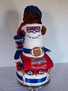 New York Giants 4 tiered Diaper Cake