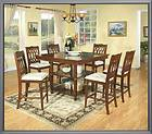 PA Dutch Solid TIGER OAK Dining Room TABLE 4 CHAIRS