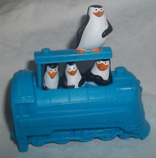 McDonalds Toy Madagascar 3 2012 Penguins Train # 4 Blue Circus Toy