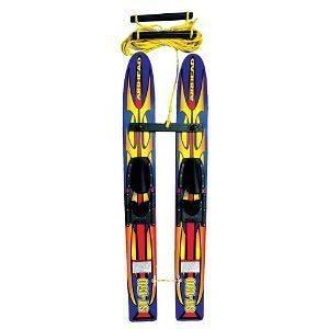Kwik Tek ST 150 Trainer Skis 48 in wood WATER SKIS NEW