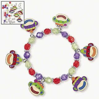 Animal Party MONKEY BEADED BRACELET CRAFT KIT bra16