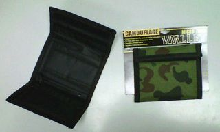 Mens Camouflage Micro Fiber Camouflage Wallet Zippered, Tri Fold