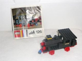 Vintage LEGO SET 126 STEAM ENGINE LOCOMOTIVE TRAIN (PUSH) 1970