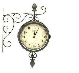 NEW DOUBLE SIDED BISTRO HANGING WALL CLOCK 8