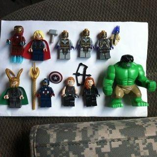 NEW LEGO The Avenger Marvel Black Weadow, Iron Man,Capt America,Thor,H