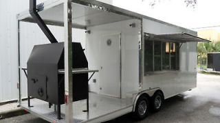 NEW 86 WIDE X 24 LONG CUSTOM PORCH BBQ SMOKER CONCESSION TRAILER