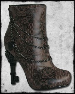 TOO FAST BROWN BLACK UNLOCK THIS STEAMPUNK VICTORIAN KEY HEEL CHAIN