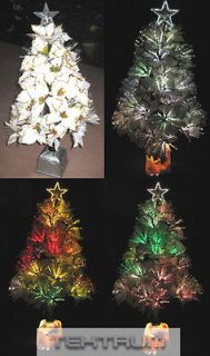 TEKTRUM 32 XMAS FIBER OPTIC POINSETTIA TREE LIGHT