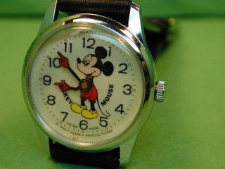 1970s Bradley Mickey Mouse Walt Disney Productions wind up wrist watch