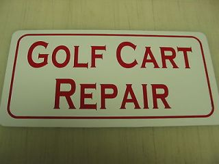 CART REPAIR Sign Golf Wedge ball Tin PRO Country Club Motor Wheel
