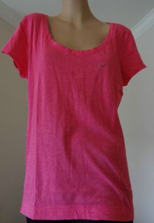 Solid Plain Womens T Shirt w/ dog logo Neon Pink and Purple S, M