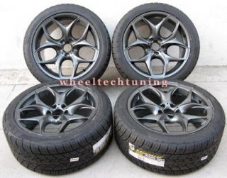 20 BMW X5 3.0, 4.4, 4.8 & X6 STAGGERED BLACK WHEELS AND TIRES   BMW
