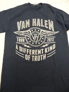 Van Halen 2012 A Different Kind of Truth tour shirt sizes S M L XL XXL