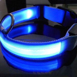 LED Dog Night Safety Pet Collar Flashing Light Up Pendant Collar Rope