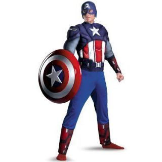 Avengers Movie Captain America Classic Muscle XL XXL includes gloves