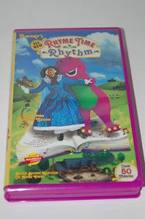 Barney Rhyme Time Rhythm VHS Video Tape *Never Seen On TV* Video Tape