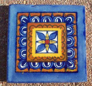 TALAVERA POTTERY 4 tile Hand Painted Wall Folk Art + Venice Italy CD