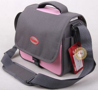 pink Digital CAMERA BAG case fit Canon 550D 7D 300D 500D 5D 60D 600d