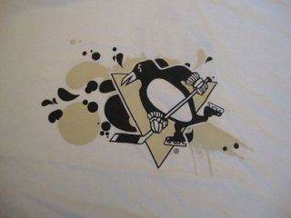 NHL Pittsburgh Penguins Hockey White Labatt blue Light Beer T Shirt XL