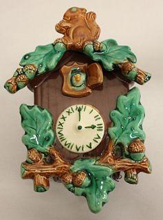 cuckoo clock wall pocket in Pottery & Glass