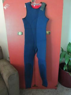 Mens Swimwear Blue Neoprene Full Body Bib   Nice Condition   Size