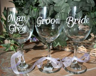 Personalized Wine Glass  Wedding, Anniversary, Birthday, Housewarming