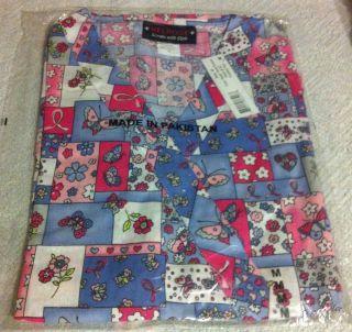 Print Scrub Top Asian Floral & Ribbons by Melrose May Hill Scrubs