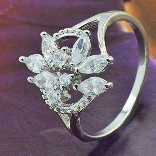 zirconia engagement ring white gold in Engagement & Wedding