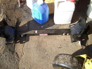 Western plow frame truck side