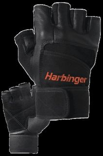 NEW 140 HARBINGER PRO WRIST WRAP WEIGHT LIFTING GLOVES