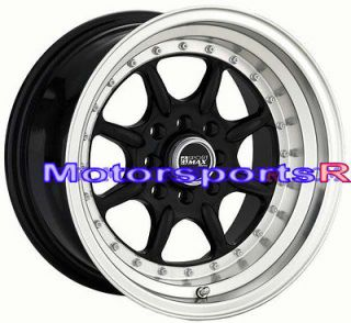 XXR 002 Black Rims Deep Dish Step Lip Wheels 85 Toyota Celica GTS 5MGE