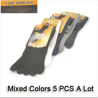 Wholesale 5X Classic Sock Mens Cotton Five Fingers Toe Socks