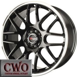 16 Black Drag DR 34 Wheels Rims 5x110/5x115 5 Lug Malibu Aura CTS DTS