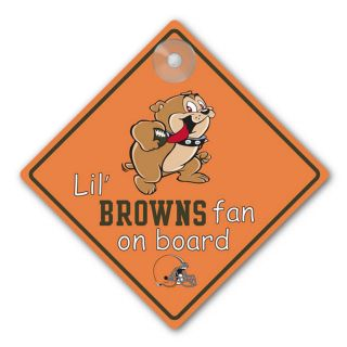 Cleveland Browns Car Window Baby on Board Sign Infant Fan