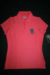Under Armour Womens WWP Polo Shirt Pink 1220619 M L Wounded Warrior