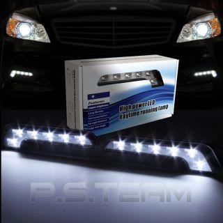 WHITE DRL LED DAYTIME RUNNING LIGHT KIT+WIRING (Fits Toyota Celica