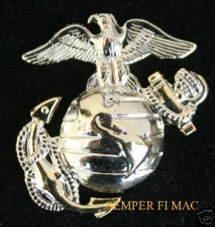 US MARINES CORPS EAGLE GLOBE ANCHOR PIN SILVER GOLD EGA