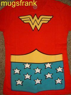 Wonder Woman Dc Comics Costume Womens Juniors Red Shirt