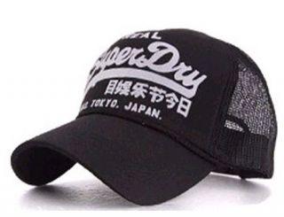 WOMENS SUPER DRY MESH BASEBALL CAPS TRUCKER BALLCAP HATS ALL BLACK