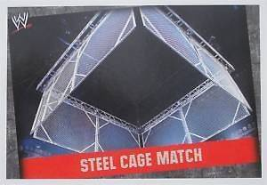 WWE Slam Attax Evolution Steel Cage Match Type Card