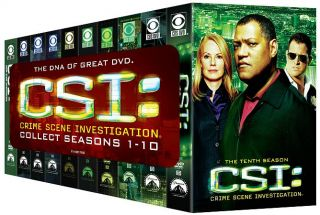 CSI Crime Scene Investigation   Seasons 1 10 DVD, 2010, 63 Disc Set