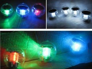 Solar Floating LED Light Water Pool Ball Multi Color led light lamp