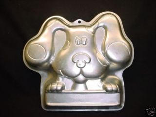 Wilton BIG BLUES CLUES cake pan PUP PUPPY DOG 2003 metal mold bake tin