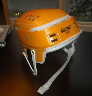 RARE Vintage COOPER SK 100 Hockey Helmet YELLOW Skateboard Hurling