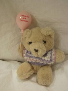 Russ Teddy Bear Mini Plush 7 Friends Are Forever Pink Balloon Stuffed