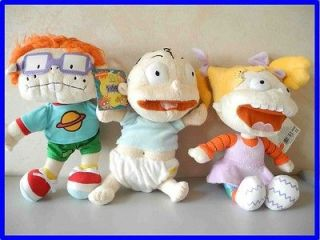 Tommy, Angelica & Chuckie, Rugrats Plush 10 Tall Baby Cute Doll