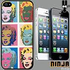 Cover for iPhone 5 Andy Warhol VTG Pop Art Monroe Vintage Phone Case
